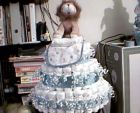 baby boy & girl diaper cakes