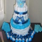 Cute Blue Boy Diaper Cake
