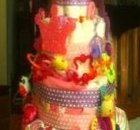 Princess and Butterflies Diaper Cake