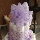 Purple Polka Dot Diaper Cake