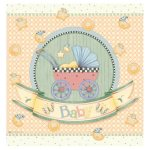 Debbie Mumm Baby Carriage Plastic Tablecover 54 x 108 inch