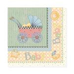 Debbie Mumm Baby Carriage Luncheon Napkin - 2 Ply