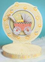 Debbie Mumm Baby Carriage Centerpiece, 13 x 11.5 inch