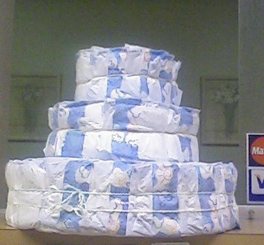 Bath time diaper cake
