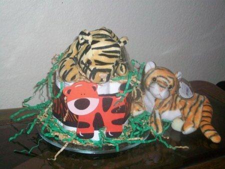 tiger diaper cake