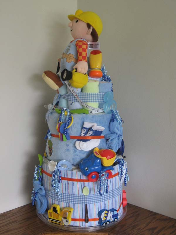 Baby Under Construction Diaper Cake