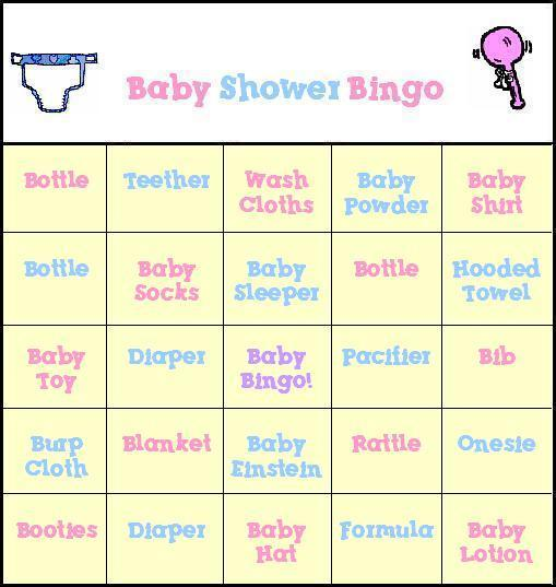 Free Baby Shower Bingo