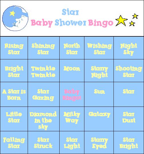 ... Moon And Star Baby Shower Game ...