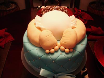 Baby Boy Edible Cake