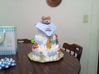Simple Cute And Cly This Diaper Cake Is An Adorable Creation Tina Has Provided Her Directions On How To Make It First