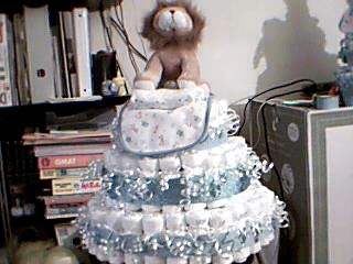 baby boy & girl diaper cakes