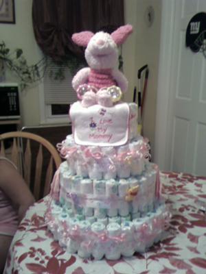 Baby boy girl diaper cakes