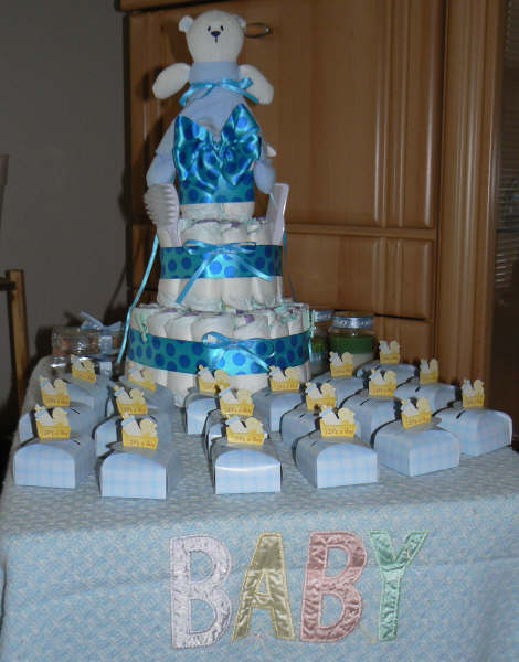 Boy baby shower themes party favors ideas for Baby shower decoration kits boy