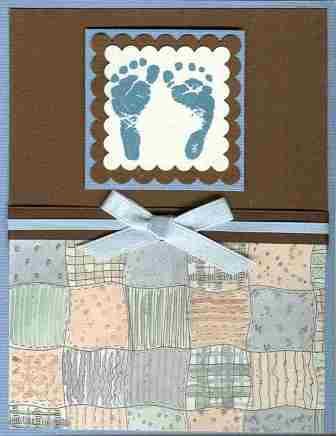 baby footprint invitation