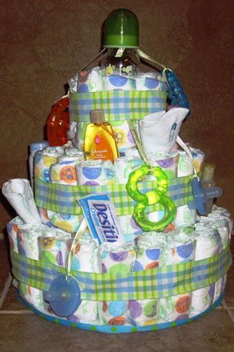 This Baby Necessities Diaper Cake Has All The Baby