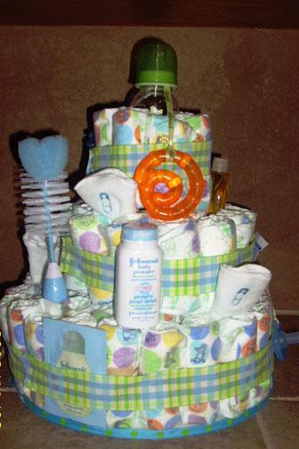 Boy Necessities Diaper Cake