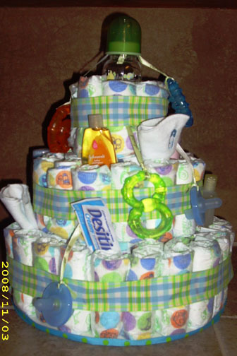 Boy Necessities Diaper Cake