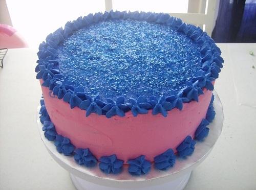 Trendy baby shower cake