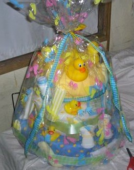 Bath Time Diaper Cake
