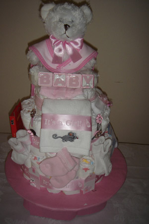Teddy Bear diaper cake