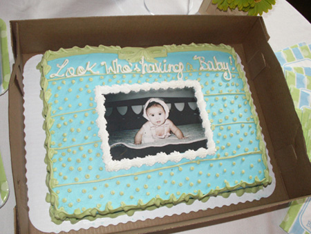 "boy baby shower cake. For games we played (of course) the ""can't say baby"""