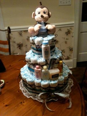 brayden's diaper cake