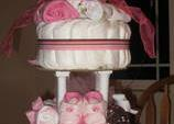 creative diaper cake