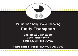 Baby Carriage Invite