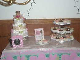 Butterfly Diaper Cake Design