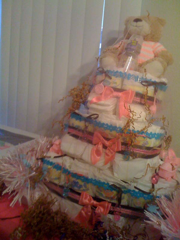 Jaja's cute girl diaper cake