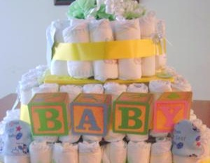 Baby Shower Cake and Gift Box
