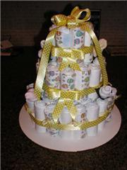 Simple Diaper Cake Design