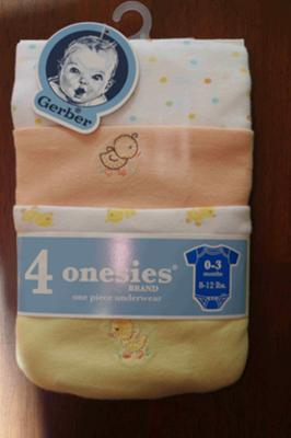 4-pack of onesies
