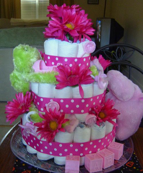 Flower Diaper Cake