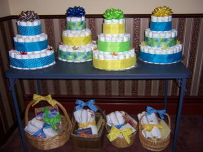 Simple Is Stylish As You Can See With These 4 Clic Diaper Cakes Below Were Made For A Teddy Bear Tea Party Themed Baby Shower