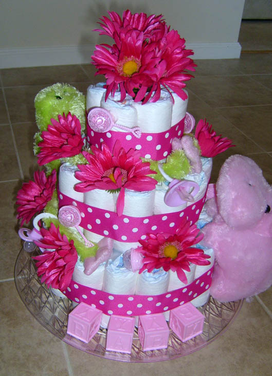 baby shower cakes baby shower diaper cakes for a girl