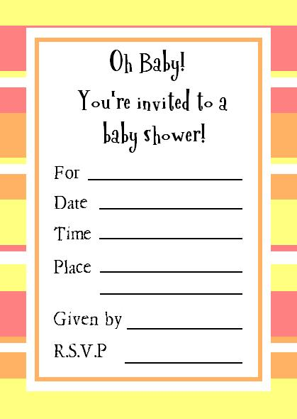 Perfect and Free Printable Baby Shower Invitation – Printable Baby Shower Invite