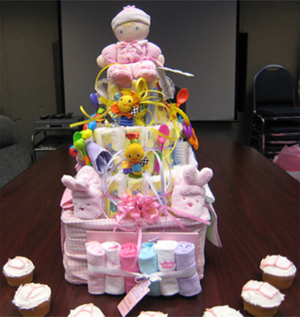 super cute girl diaper cake pictures instructions