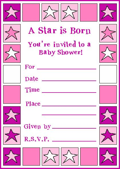 new fun and free baby shower invitation template