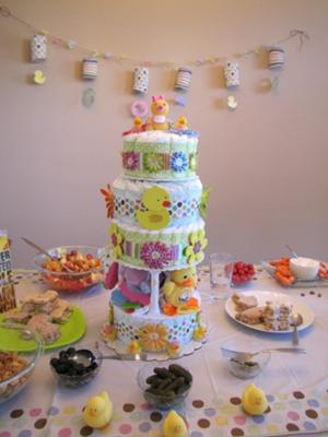 View - Yellow Ducky Diaper Cake