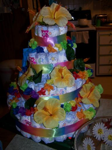 hawaiian baby shower cake ideas baby diaper cake