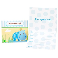 hippo baby shower invitations