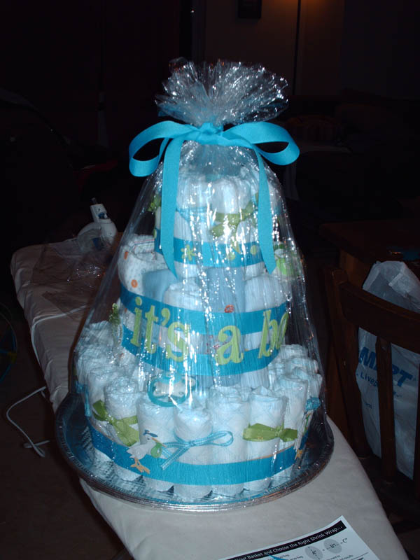 Diaper Cake Ideas For Baby Boy : Baby Shower Cakes: Baby Shower Diaper Cake Ideas Boy