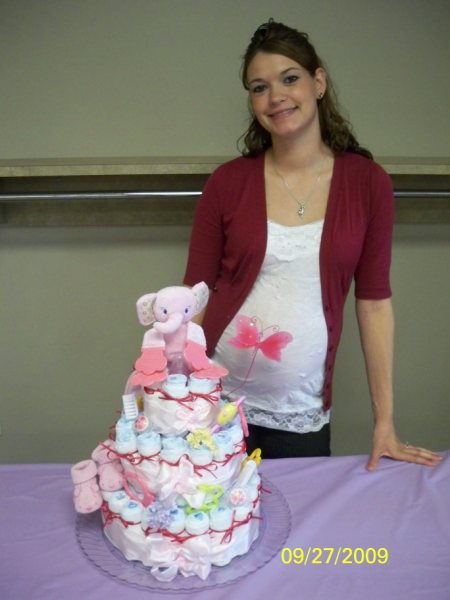 Its a girl diaper cake