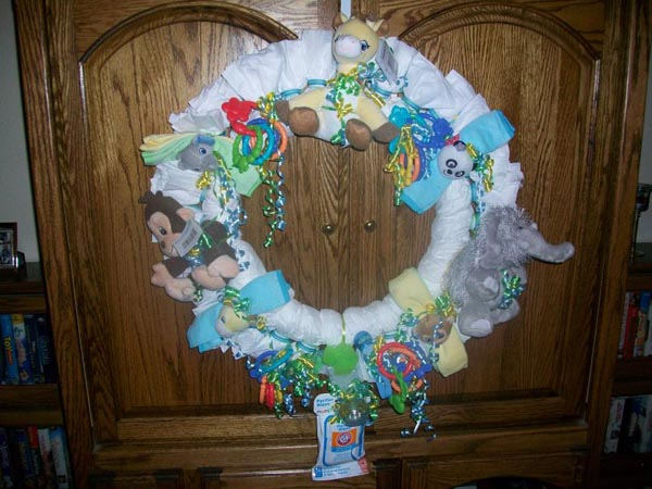 jungle animal baby shower wreath