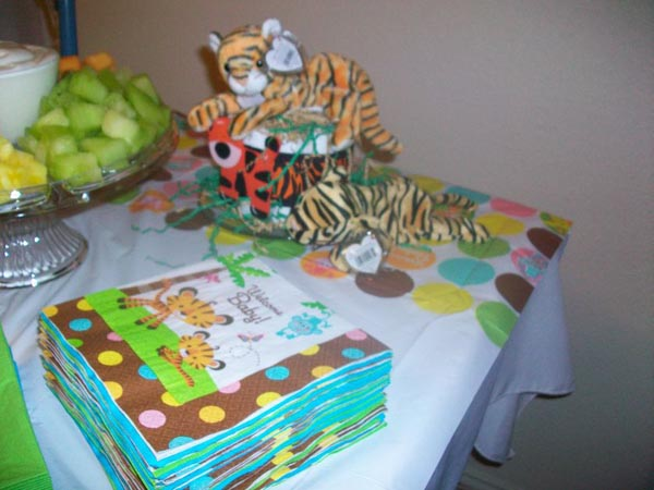 jungle baby shower napkins