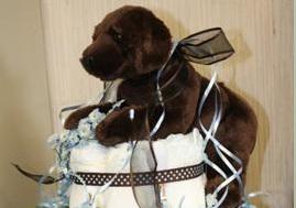 Labrador Puppy Diaper Cake