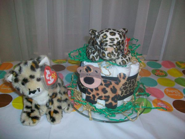 leopard diaper cake