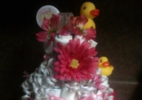 little girl diaper cake