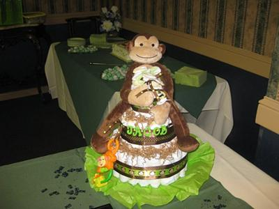 Little Boys Monkey Diaper Cake